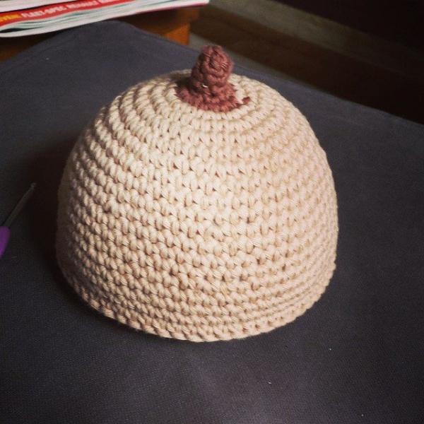 classybird28 crochet boob hat
