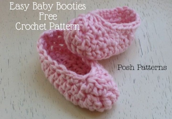 crochet baby botties pattern