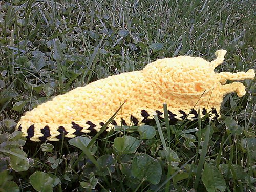 crochet banana slug