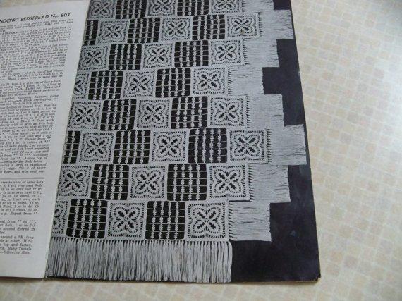 crochet bedspread pattern 1940s