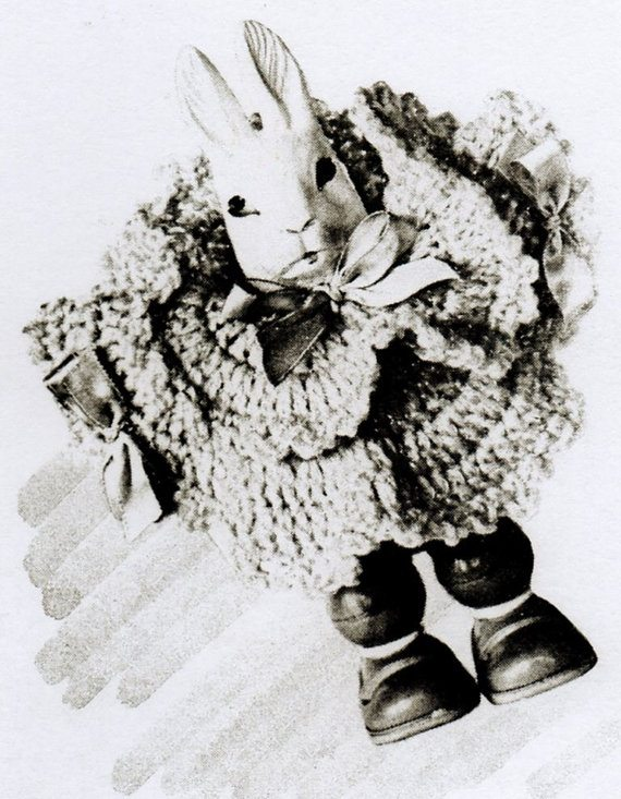 crochet bunny rattle