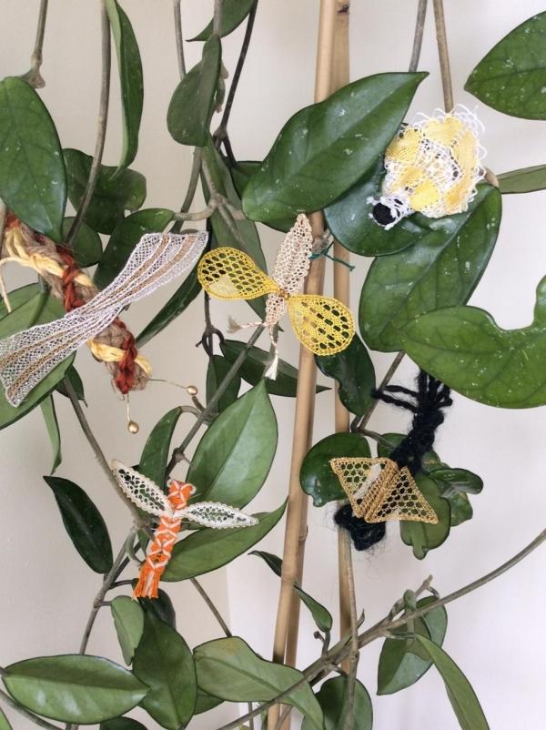 crochet butterflies art