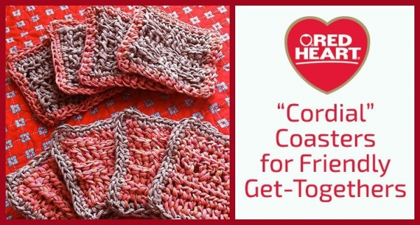 crochet cordial coasters free patterns