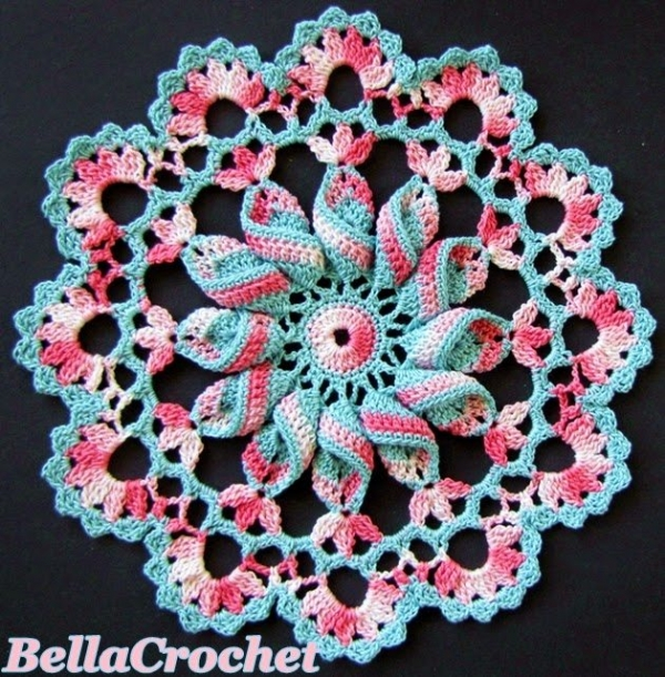 Crochet X Pattern : Pinwheel doily free crochet pattern from BellaCrochet