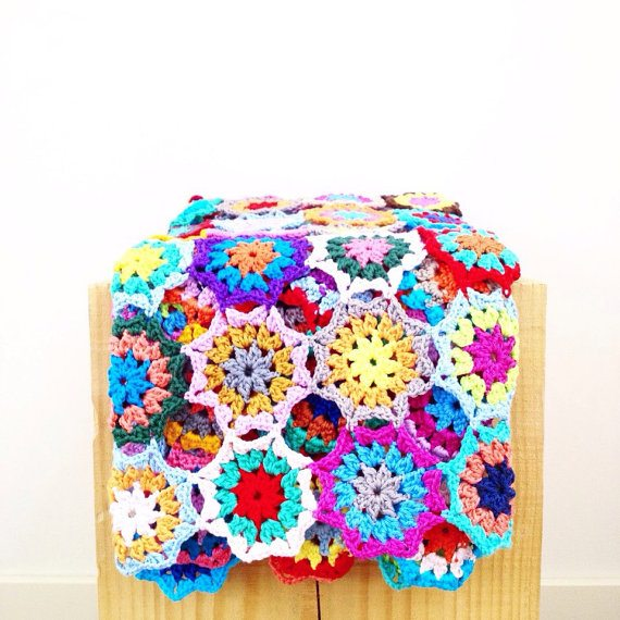 crochet flower blanket pattern