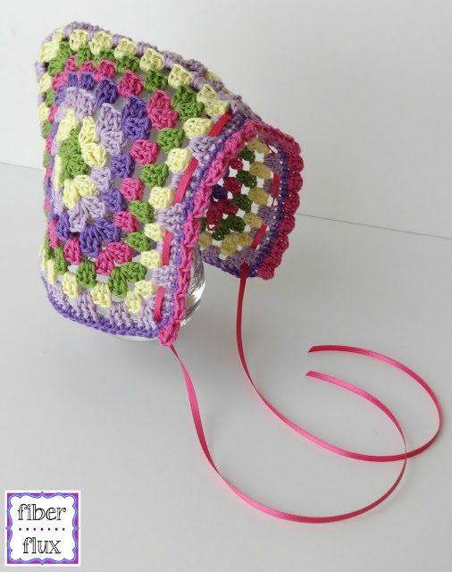 crochet granny bonnet free pattern