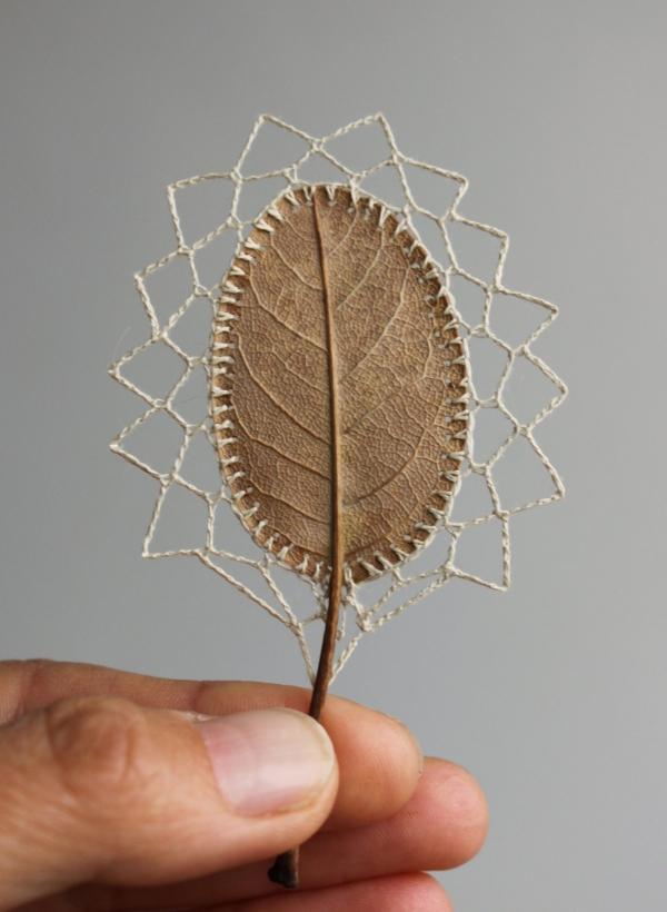 crochet magnolia leaf