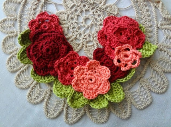 crochet necklace pattern