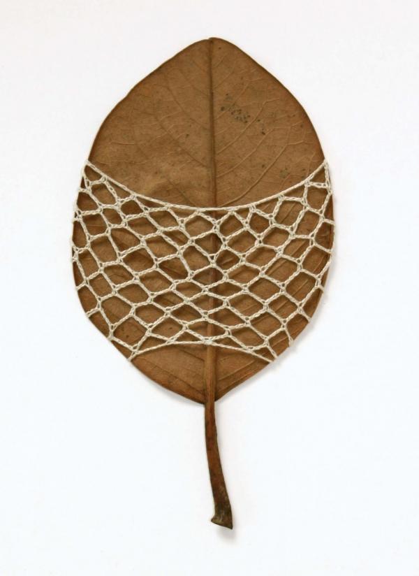 crochet net leaf