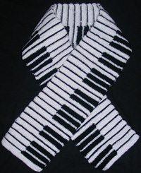 crochet piano scarf