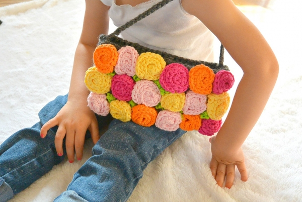 crochet roses purse pattern