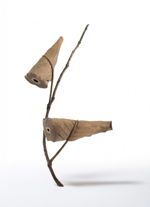 crochet sculpture leaf