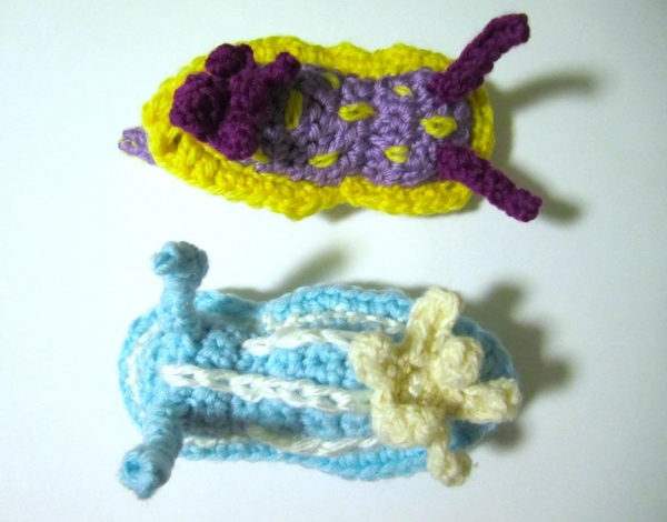 crochet sea slug