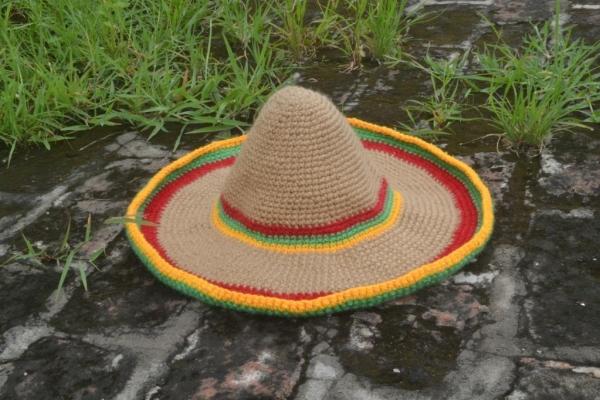 crochet sombrero hat