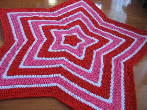 crochet star blanket free pattern
