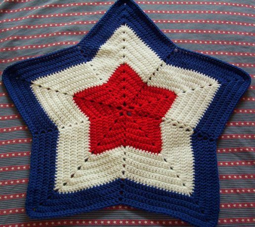 crochet star blanket