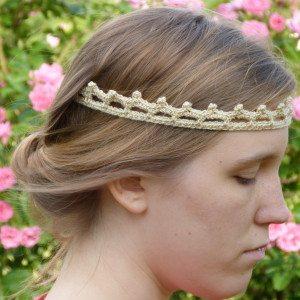 crochet tiara headband free pattern