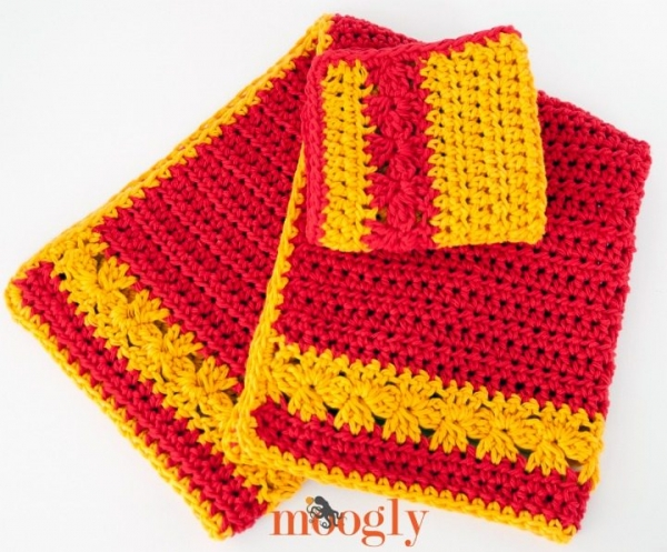 crochet towel set patterns