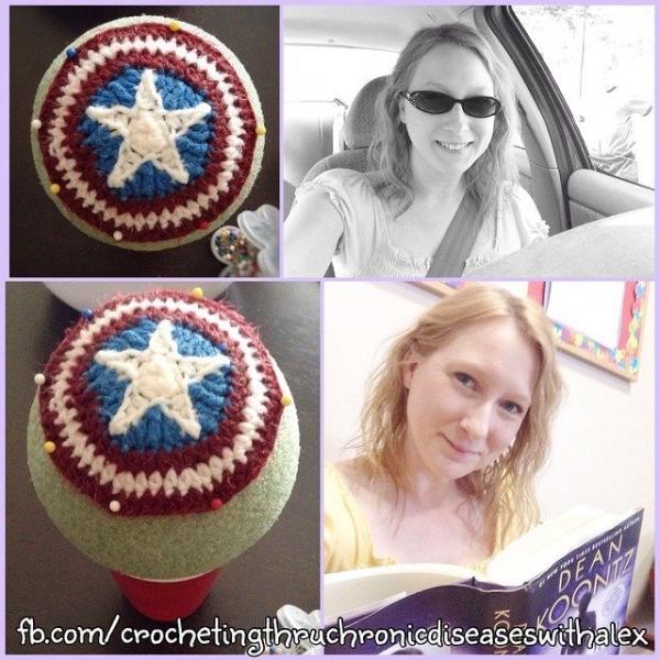 crochetingthruchronicdiseases captain america crochet