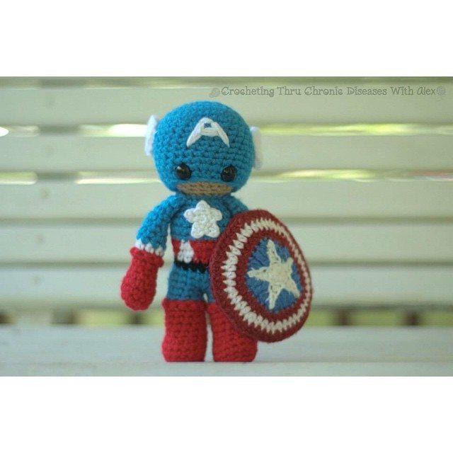 crochetingthruchronicdiseases crochet captain america