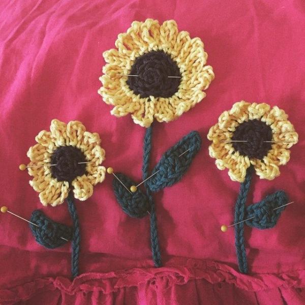 cuddlebugkids crochet sunflower