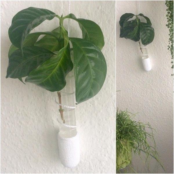 elisabethandree crochet plant holder