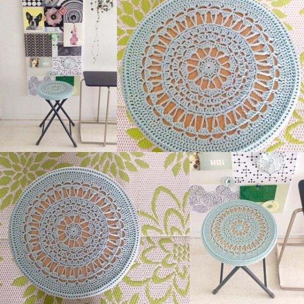 elisabethandree crochet table cover