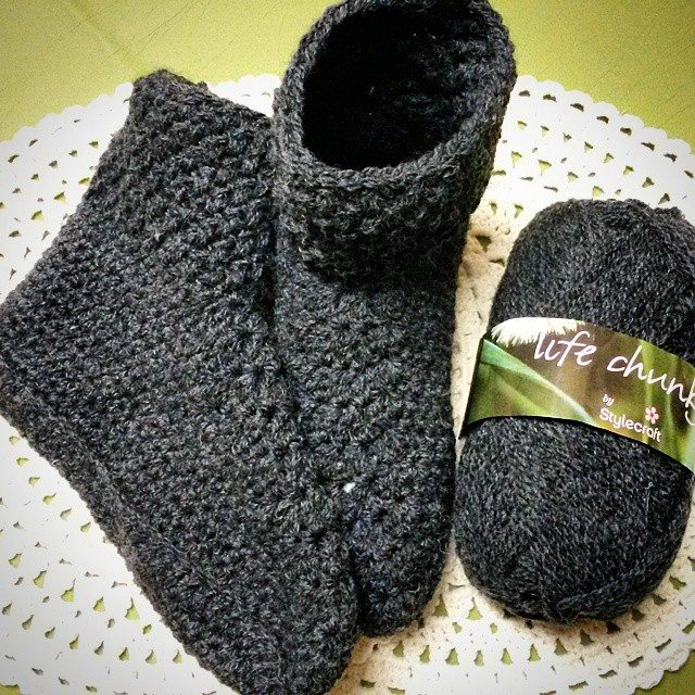 elzavan912 crochet wool slippers