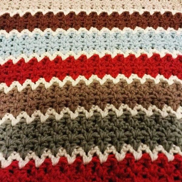 elzavan912 v-stitch crochet blanket