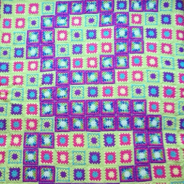 flamingpot first crochet blanket