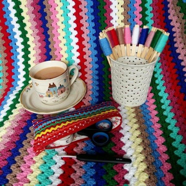 girlfromalittletown crochet granny stripes