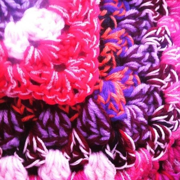 granny square crochet colorful