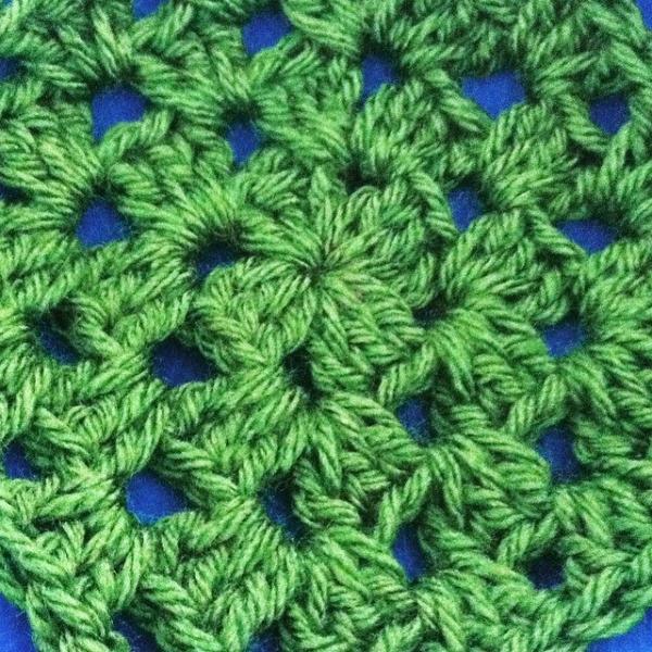 granny square crochet green
