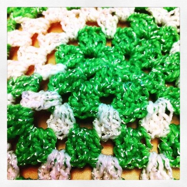 granny square crochet sparkle