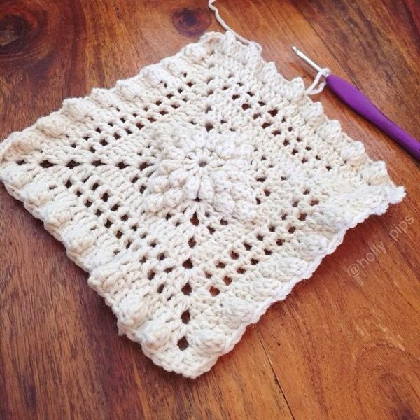 holly_pips crochet lace baby blanket etsy pattern
