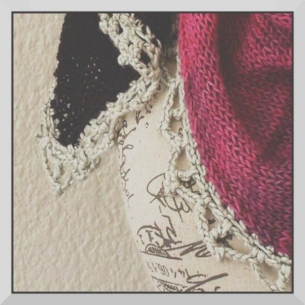 hookybren knit scarf with crochet edging