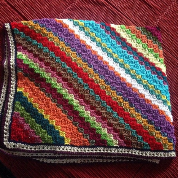 itscoopersmom crochet colorful blanket