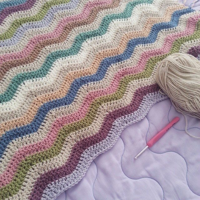 Easy Crochet Ripple Afghan Tutorial : jenjendb crochet ripple
