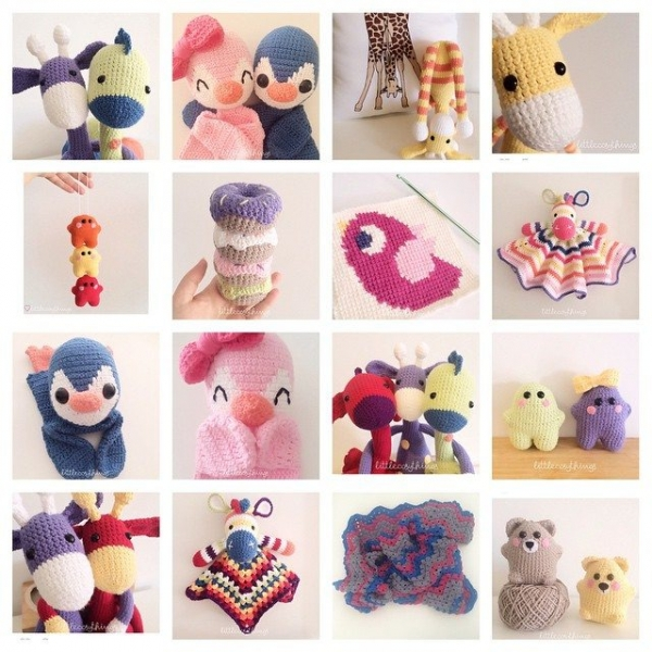 littlecosythings crochet collage