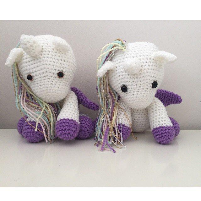 littlefoxcrochet crochet unicorns