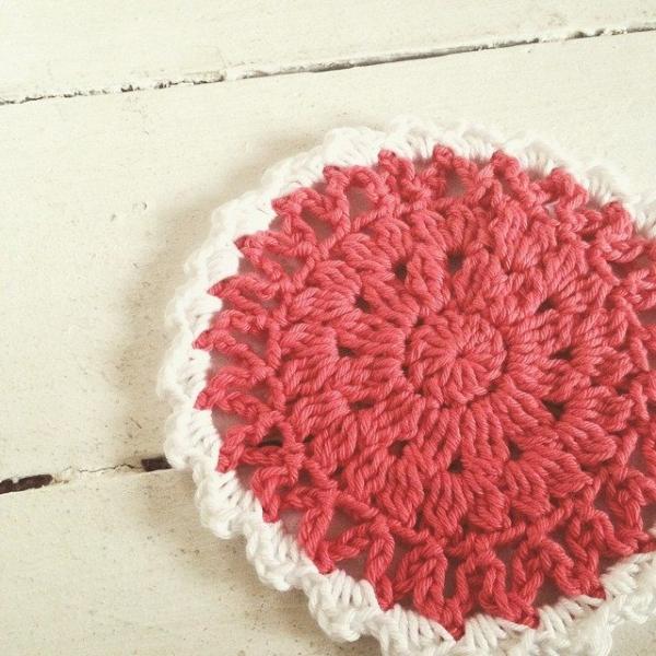 lou.teacrochet crochet coaster