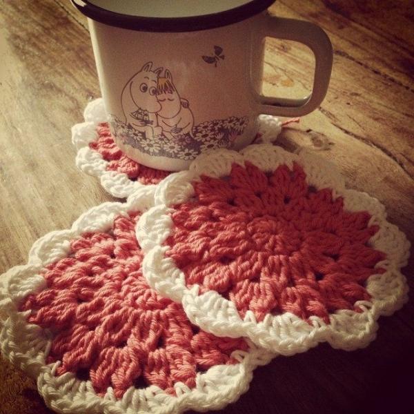 lou.teacrochet crochet coasters