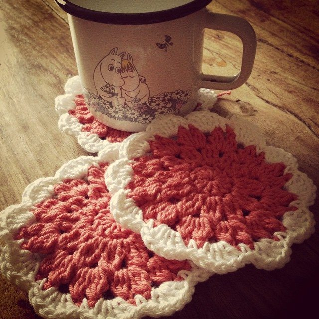 lou.teacrochet crochet coasters