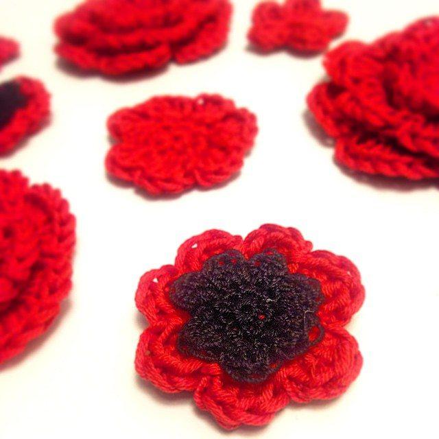 louloudeane crochet flowers
