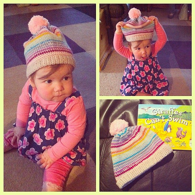 lyndapc crochet baby beanie