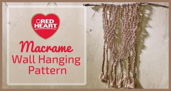 macrame wall hanging pattern