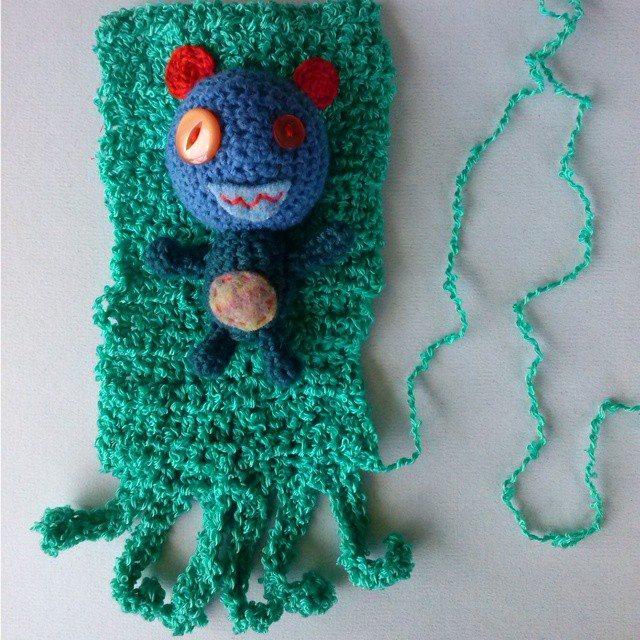 mrsdaftspaniel yarnbomb crochet monster