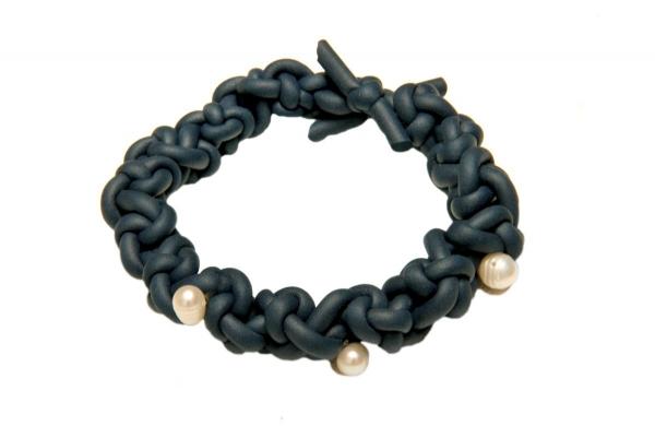 neoprene crochet bracelet
