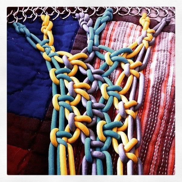 neoprene yarn macrame