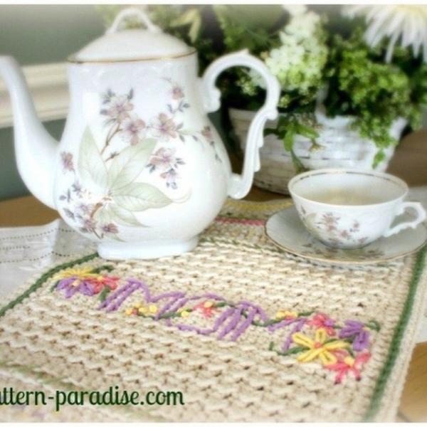 patternparadise crochet dish towel